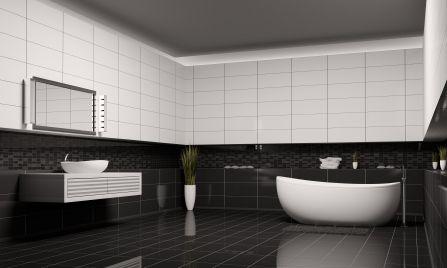 Good Black And White Bathroom Good Bathroom Bathroom: Black And White Tiles  Color Design Ideas For Bathroom