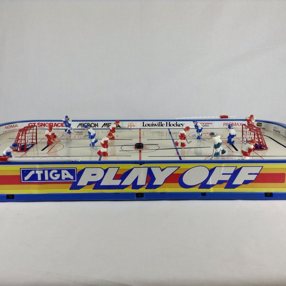 Vintage table hockey - Vintage Stiga Playoff Table Hockey International Made In Sweden Complete