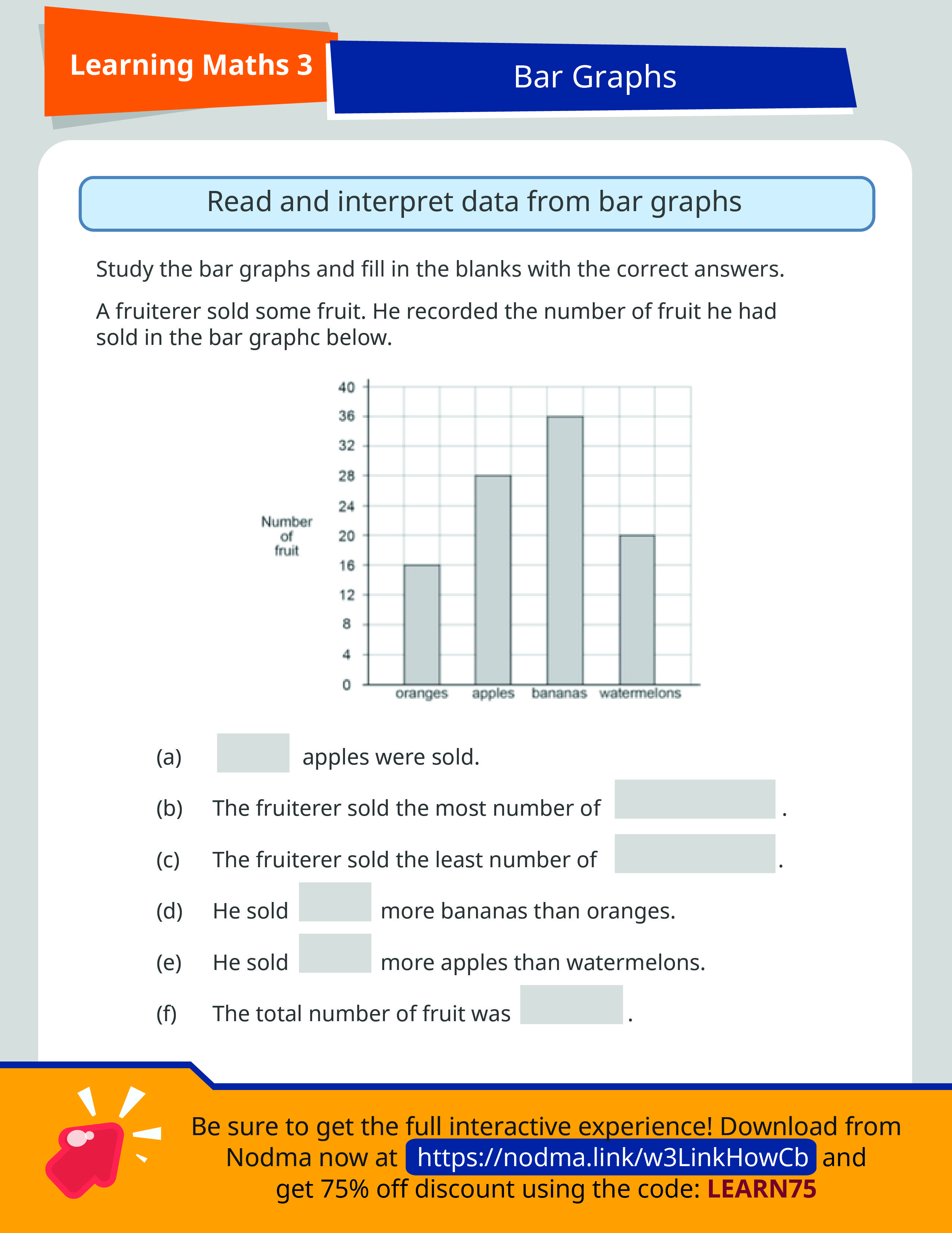 medium resolution of Grade 3 Math Bar Graphs   SAP Learning Math 3   3rd grade math worksheets