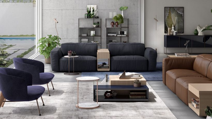 Lg Teams Up With Natuzzi For Colosseo Smart Sofa That Knows Who S Sitting On It Lg Is Going Italian Sofa Designs Italian Furniture Brands Living Room Paint