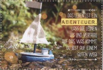 Abschiedskarte Kollegen; Das Leben ist ein Abenteuer ...