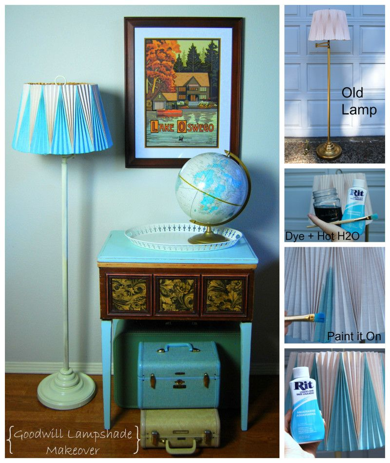Second Home Decorating Ideas: Makeover A Second Hand Lamp With Rit Dye And Spray Paint
