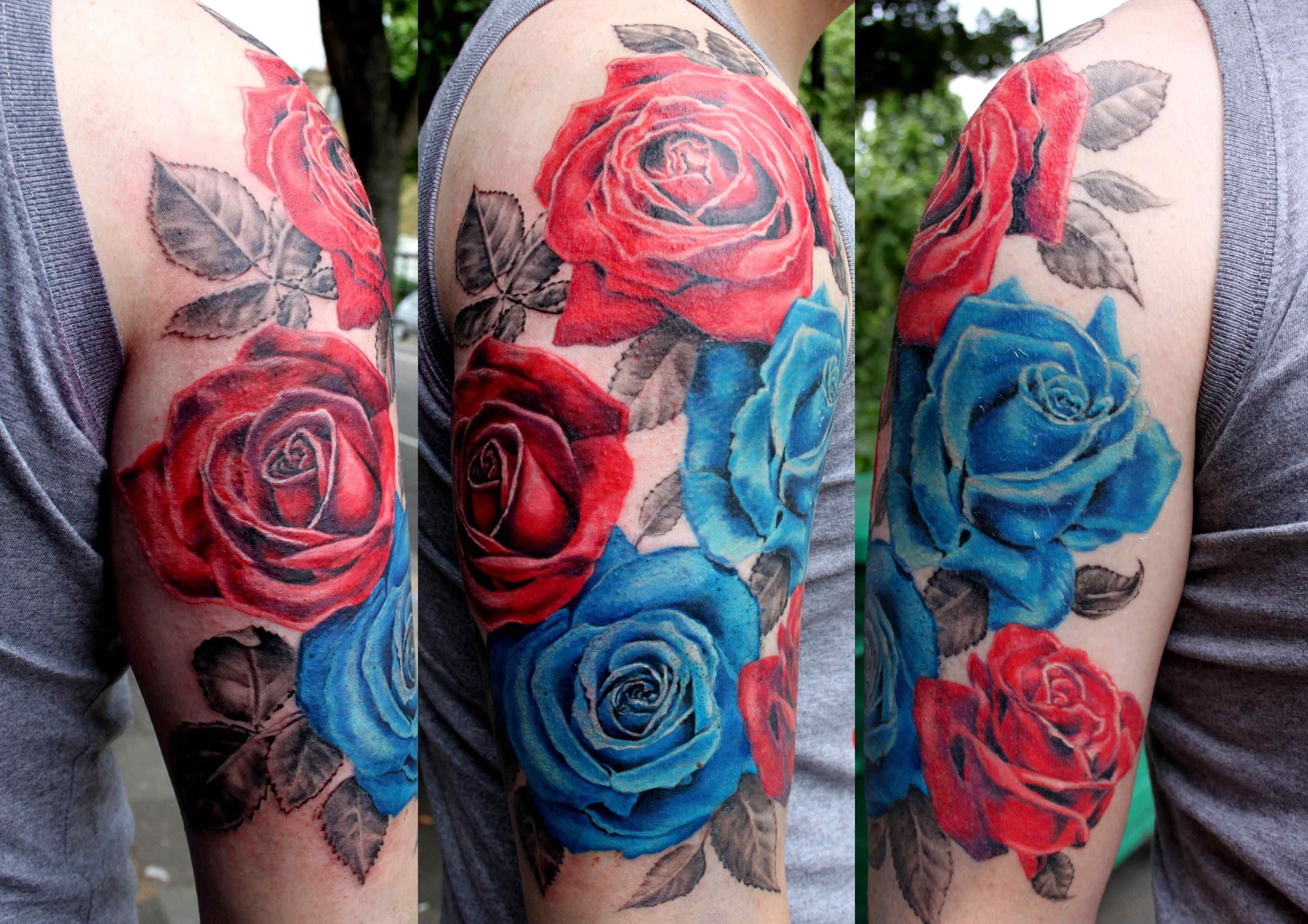 Creative Rose Tattoos For Men Half Sleeve Half Sleeve Tattoos Roses Blue Rose Tattoos Half Sleeve Rose Tattoo Rose Tattoos For Men