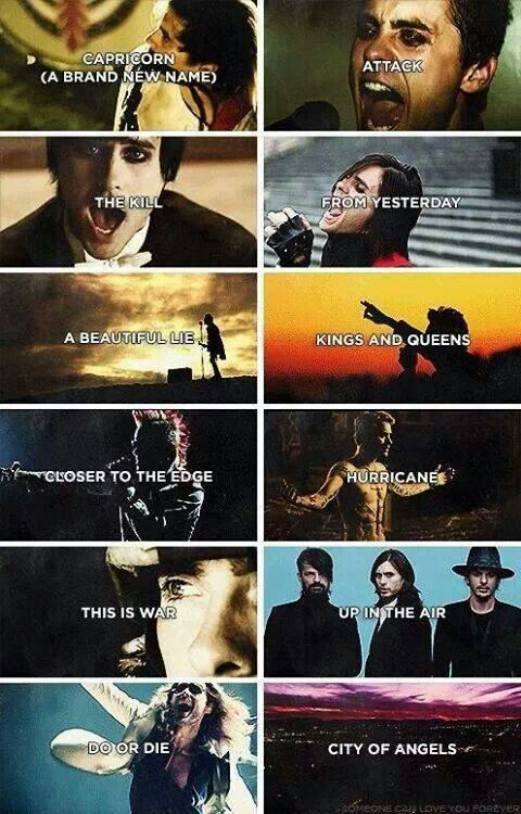 The Music Videos 30 Seconds To Mars 30 Seconds To Mars Jared
