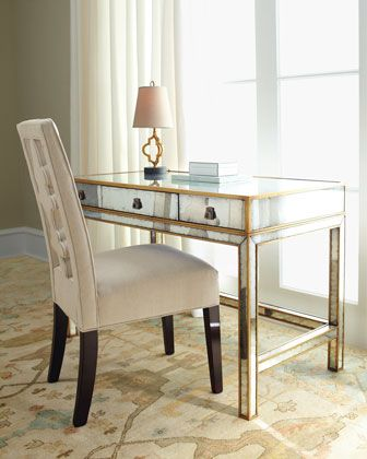 John Richard Collection Mirrored Writing Desk Desk In Living