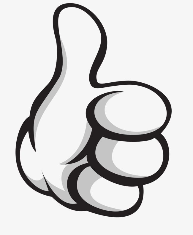 Hand Drawn Vector Thumbs Up Png And Vector Mickey Mouse Art Thumbs Up Drawing How To Draw Hands