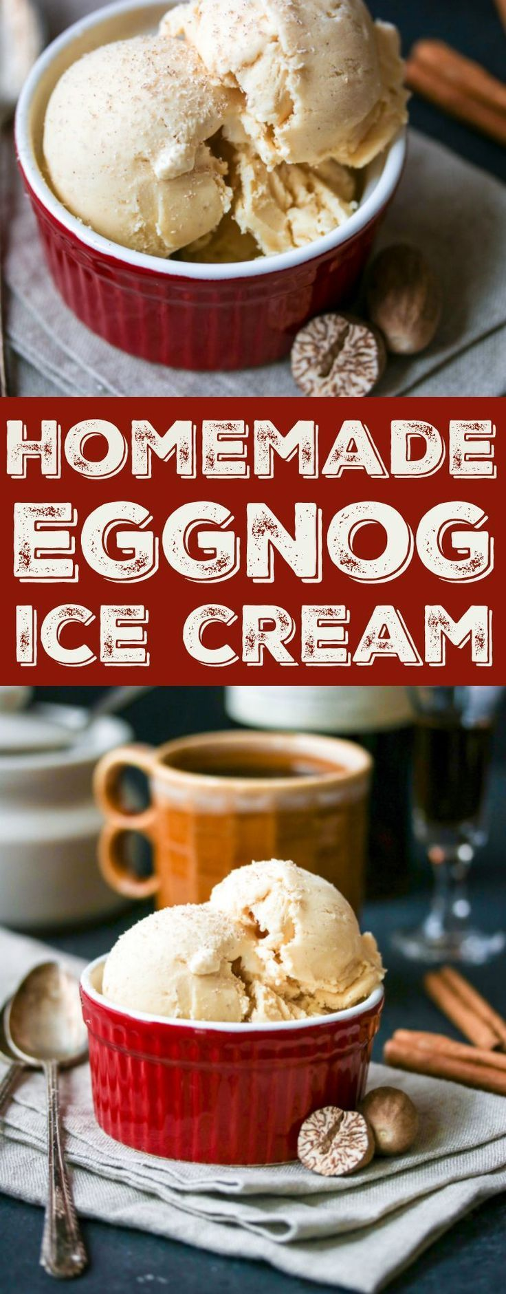 How to make eggnog ice cream with what you have left - bought in the store or ...   - Eis -