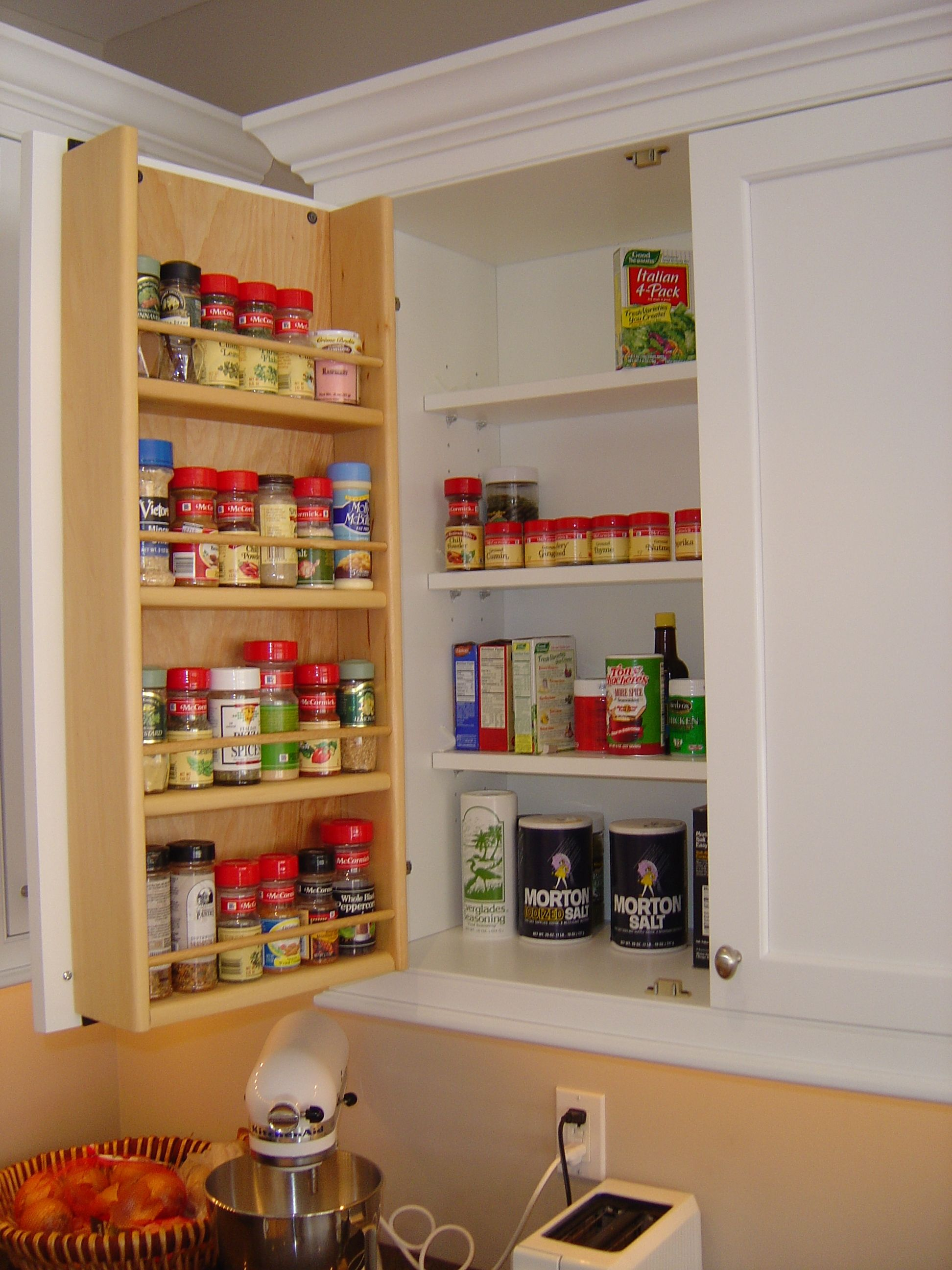 Storage For Kitchen Cupboards Tedd Wood Spice Storage On Inside Of Cabinet Door Storage