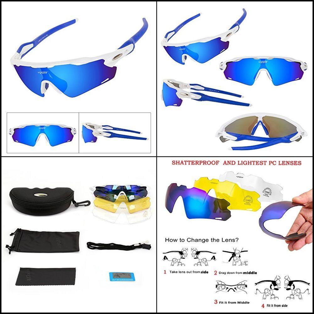 41048e9f301 Man Women Sports Polarized Sunglasses Tac lens Interchangeable Lenses 100%  UV  BATFOX  Sport