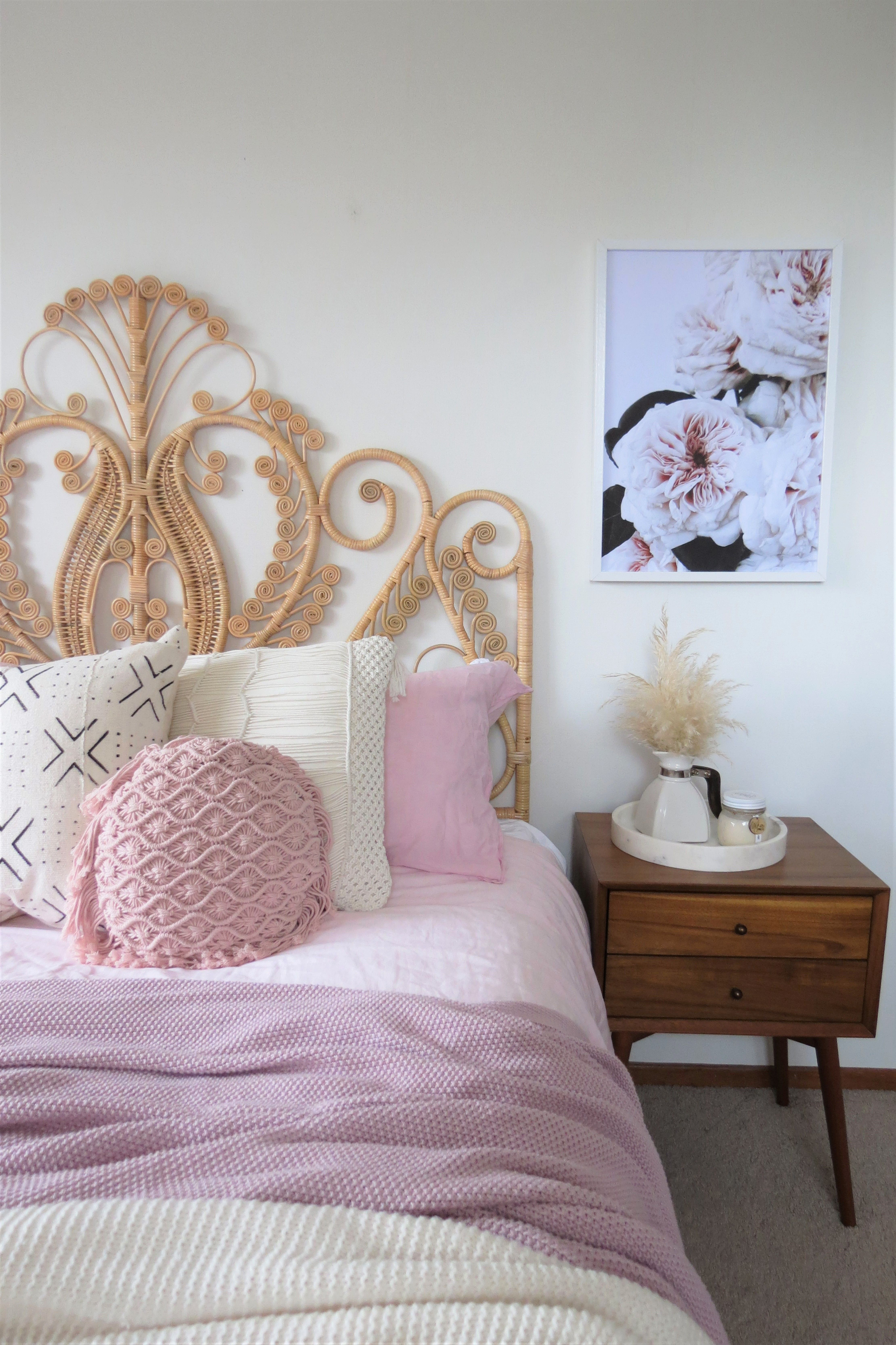 Cane Peacock headboard from The Foxes Den photo