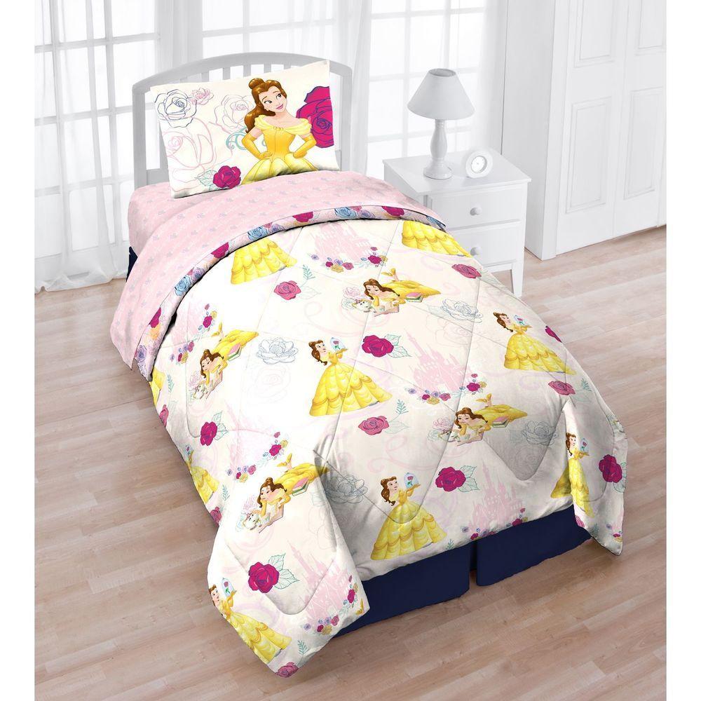 beauty beast 5 pc kids twin comforter and sheet set