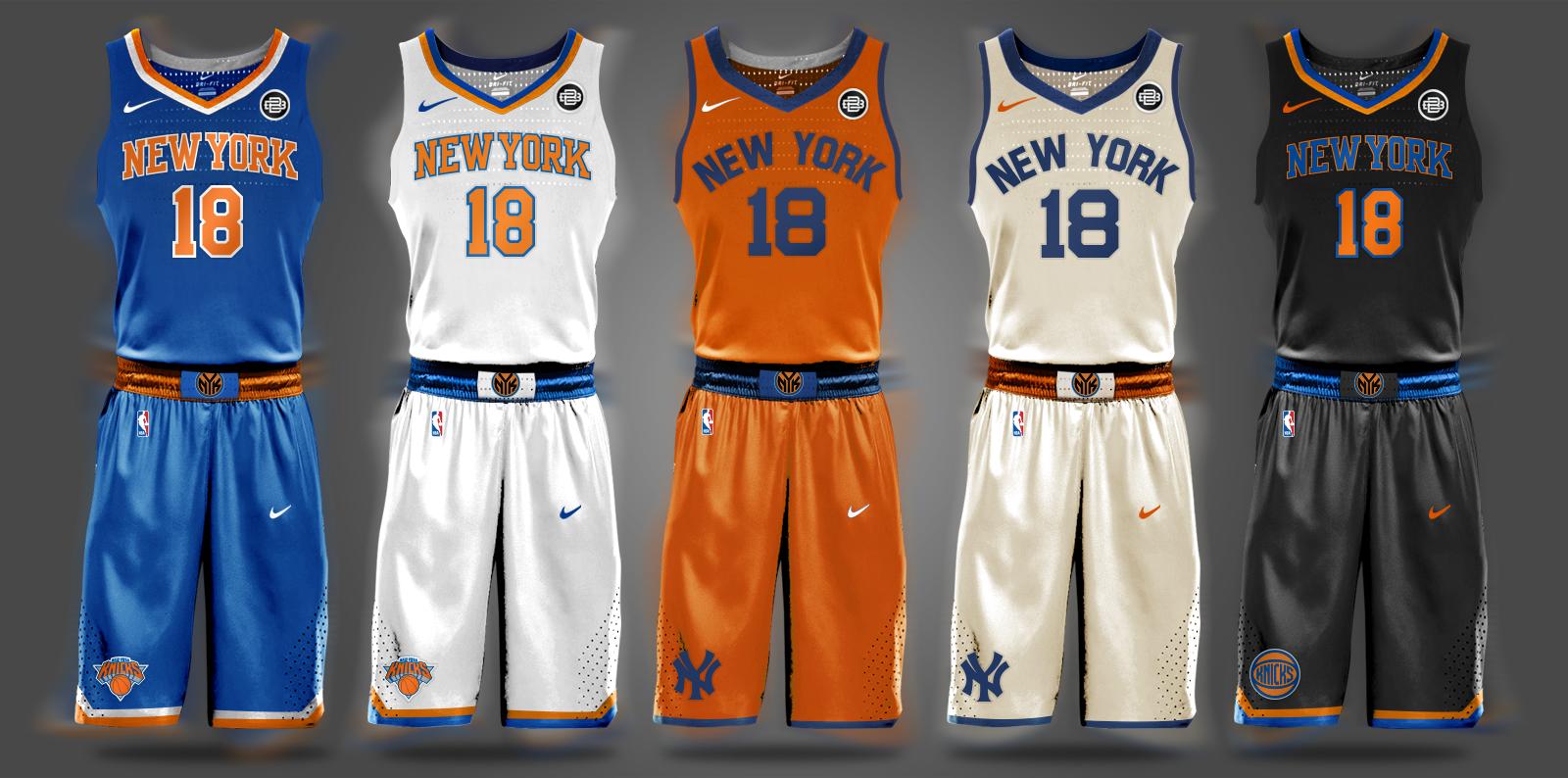 9bc512573 New York Knicks Carmelo Anthony Kristaps Porzingis Phil Jackson NBA Draft  Nike Throwback Uniforms Tim Hardaway Jr