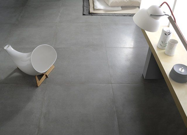 Carrelage int rieur moderne et design en 65 id es salons for Carrelage 80x80 gris