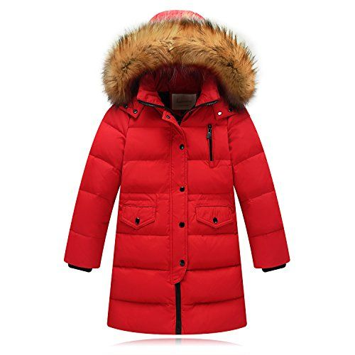 8cf998ae4fa8 Seeduck Big Girls  Winter Parka Down Coat Puffer Jacket Padded Overcoat  with Fur Hood