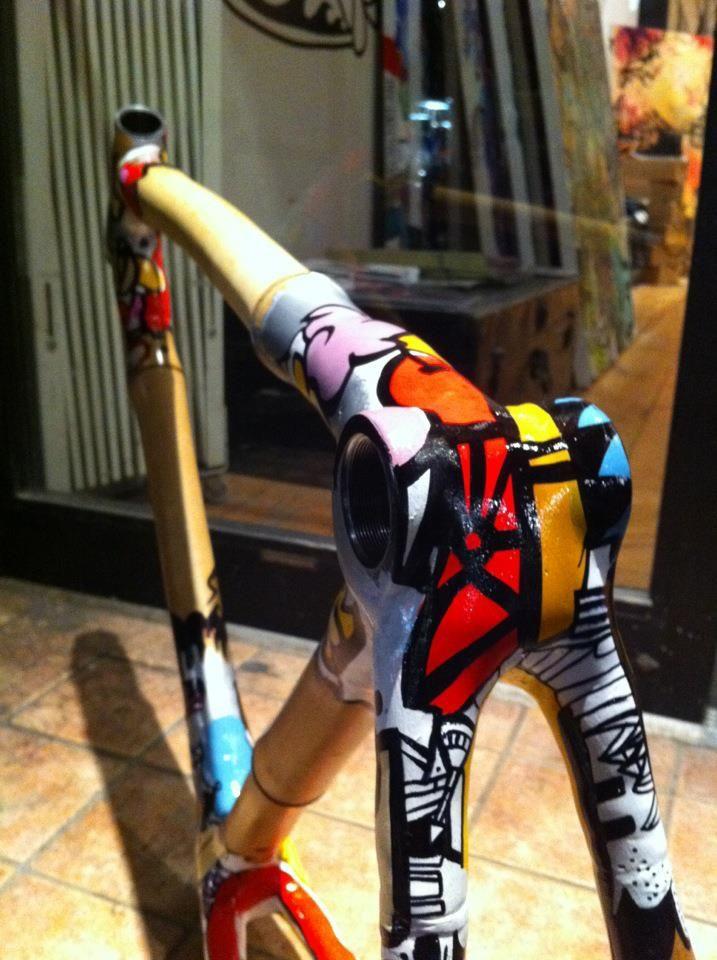 Bamboo bike with painted lugs | Radl | Pinterest | Fahrräder, Rahmen ...