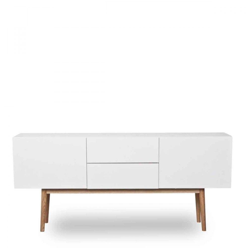 High Wood Buffet Design 2 Portes 2 Tiroirs Scandinave Buffet Design Mobilier De Salon Meuble Rangement