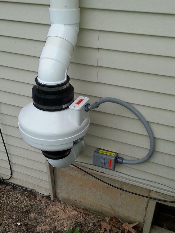 Radon Fan Connection Google Search Radon Mitigation Radon Home Remodeling