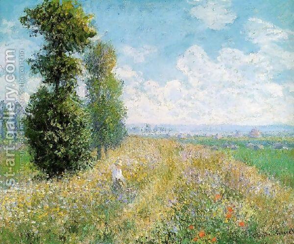 Claude Oscar Monet:Meadow With Poplars Aka Poplars Near Argenteuil