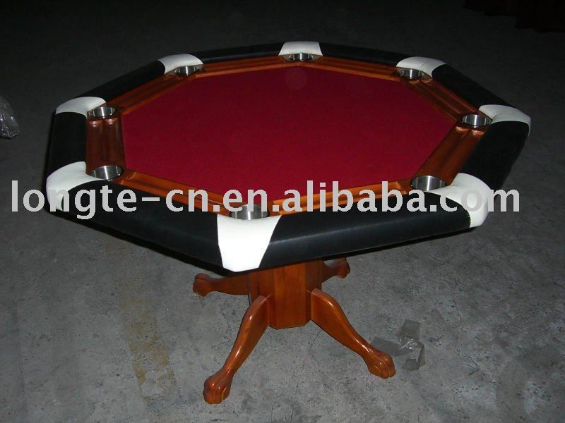 8 Player Octagon Delux Casino Style Poker Table Solid wood frame and medium density fiberboardThicker foam handle, High spee