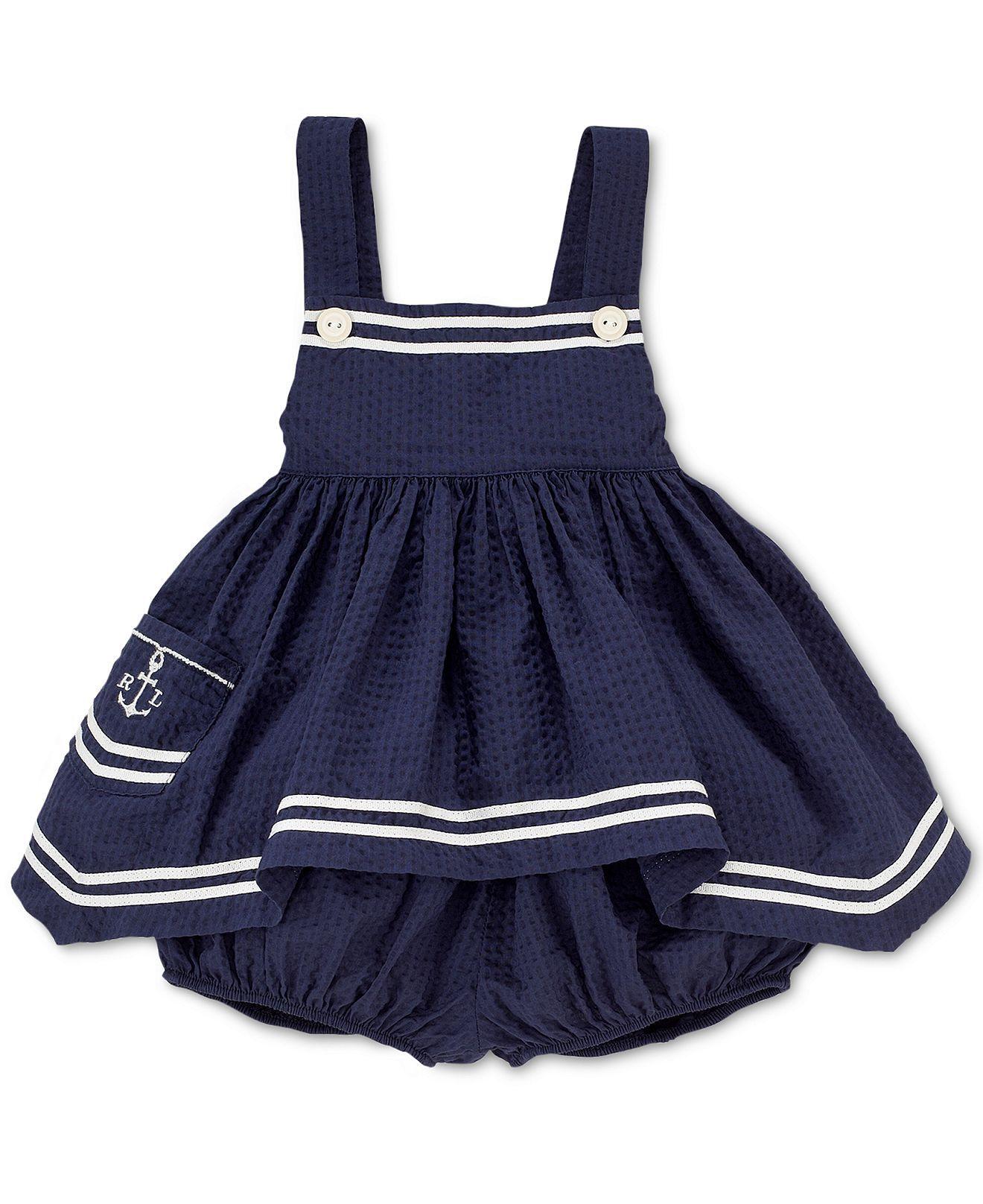 Ralph Lauren Baby Set Baby Girls Nautical Hankerchief