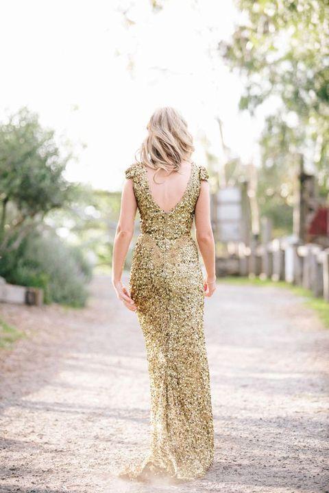 25++ Gold sequin wedding dress info