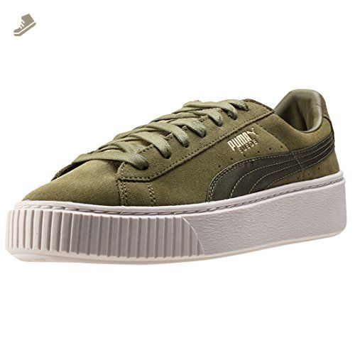 359ab99744be0 Puma Suede Platform Satin Womens Trainers Olive - 3 UK - Puma ...