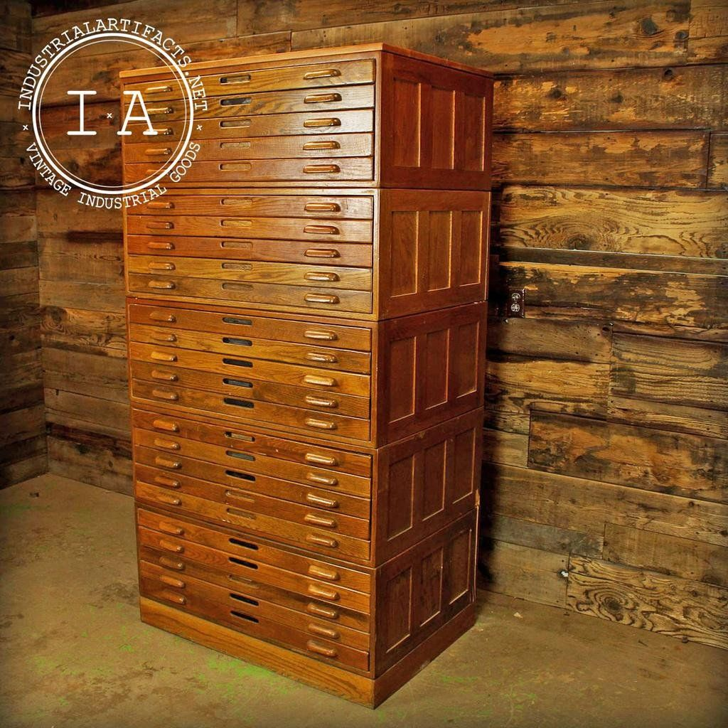 Industrial wooden hamilton flat file blueprint cabinet industrial wooden hamilton flat file blueprint cabinet malvernweather Images