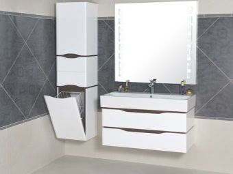 Podwieszane Szafki łazienka Z Koszem Na Bieliznę łazienka