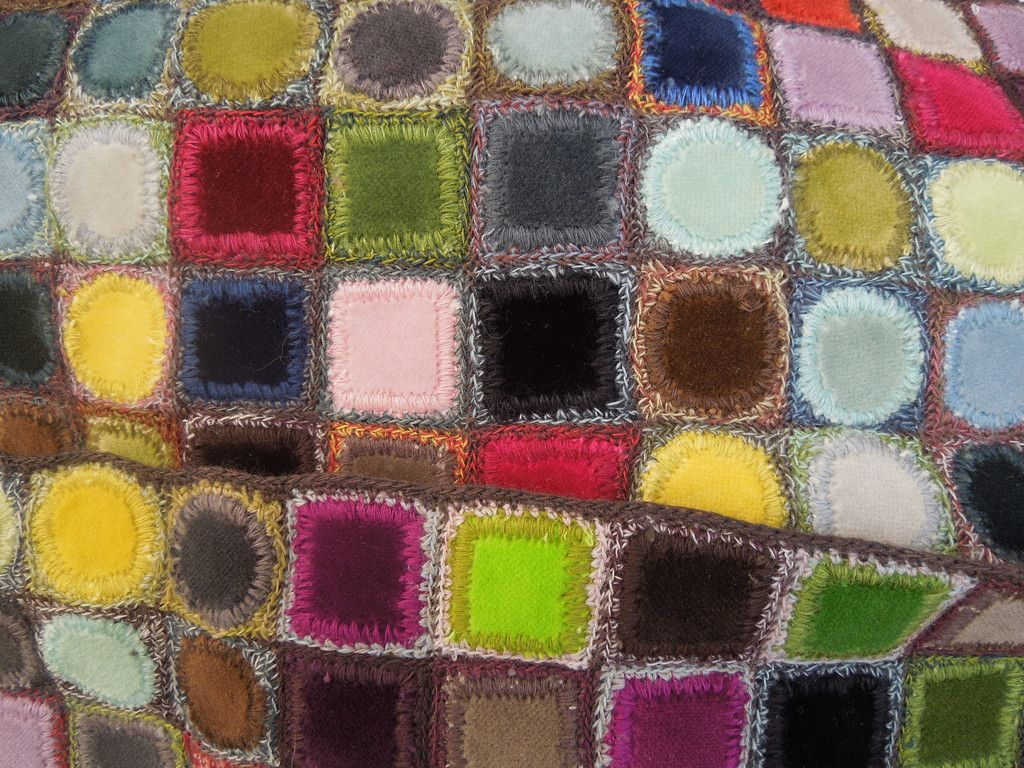 Squares and circles small scarf – Sophie Digard – The French Needle
