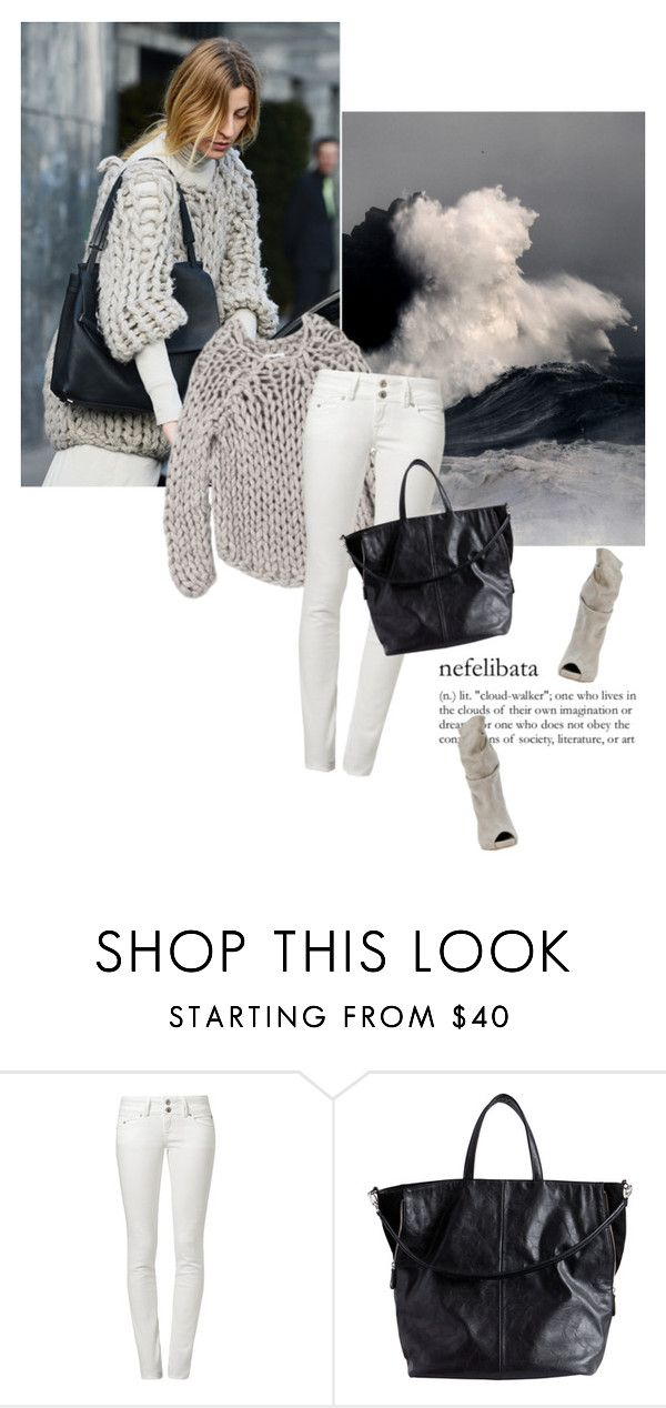 """""""cool"""" by magdafunk ❤ liked on Polyvore featuring LTB by Little Big, Pieces, Sweater, cold and sweaterweather"""