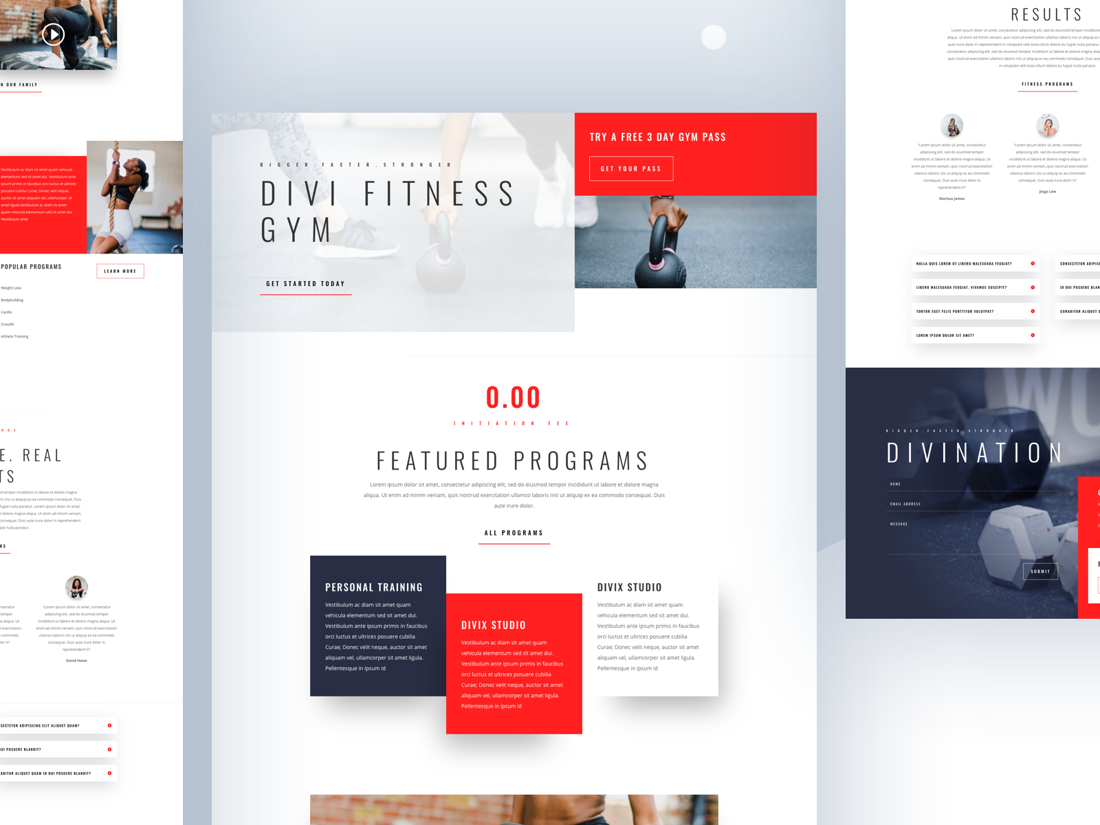Fitness Gym Template Design For Divi Gym Workouts Template Design Gym