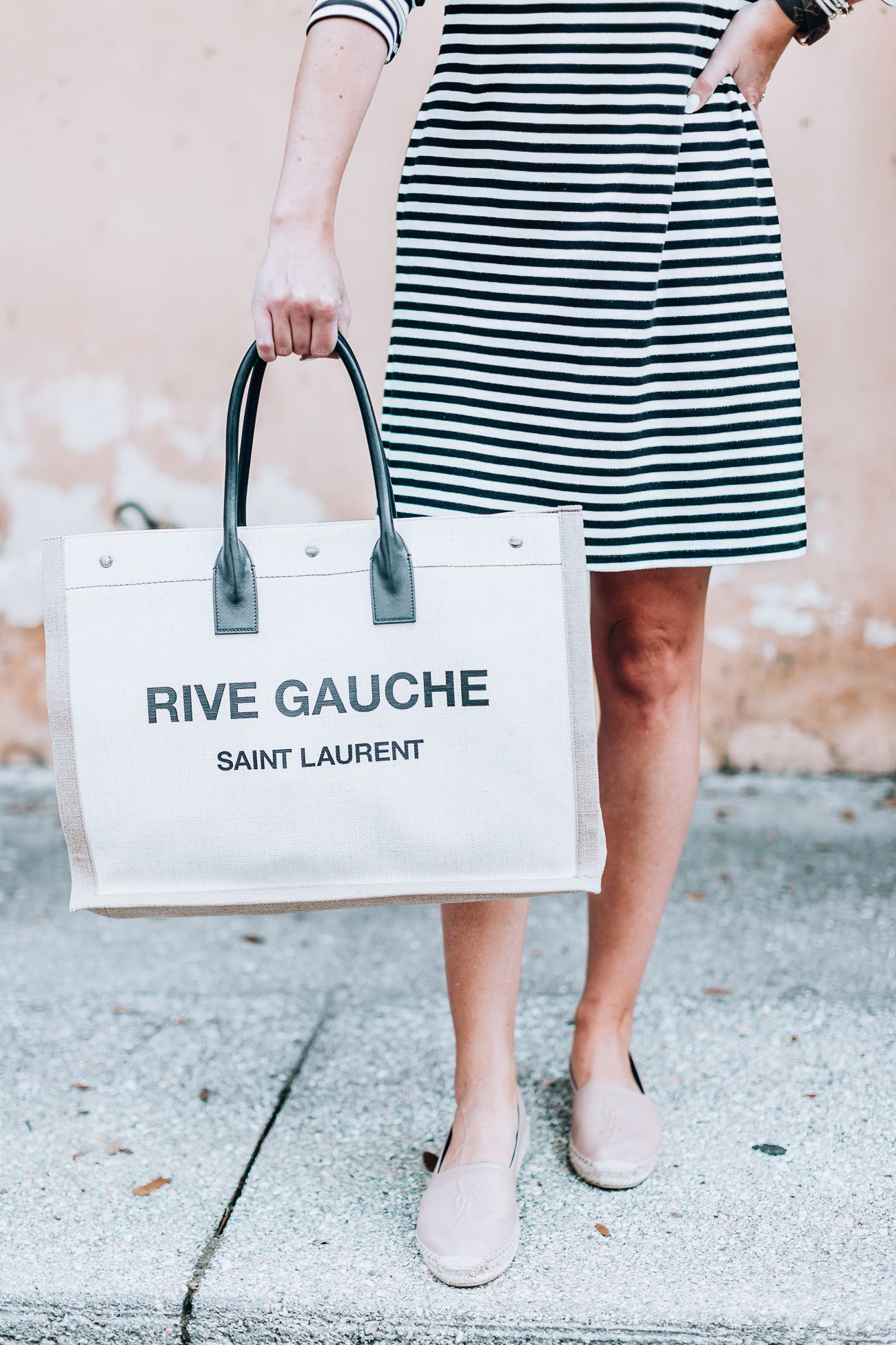 6e00be30318 Luxury Designer Review | YSL Espadrille and Saint Laurent Noe Rive Gauche  Linen Tote - SHOP DANDY | A florida based style and beauty blog by Danielle