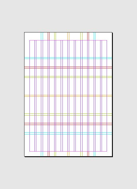 Indesign A4 Complex Grid System 12 Indesign Pinterest Grid