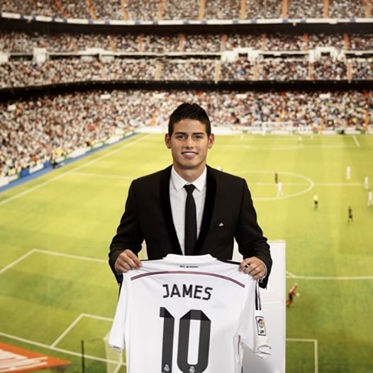 After His Fancy Footwork And Flair Won James Rodriguez The Golden Boot At This Year S Worldcup The Colombi James Rodriguez Real Madrid Soccer Field
