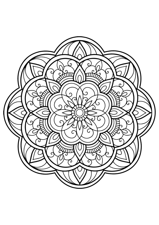 MANDALA   Mandala livre gratuit 32   Mandalas   Coloriages ...
