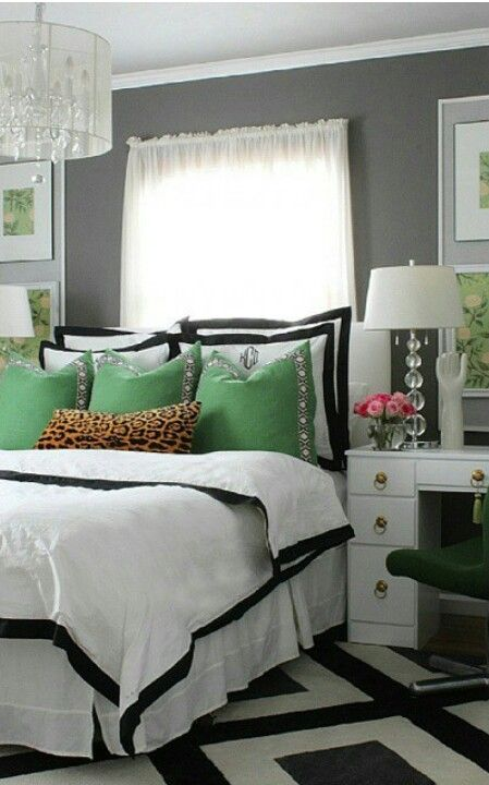 Best Black White Gold And Green In 2019 Home Decor Design 400 x 300