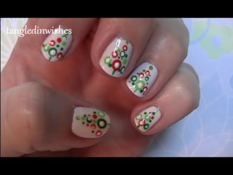 For Short Nails: Easy Abstract Christmas Tree Nail Art Design - YouTube - For Short Nails: Easy Abstract Christmas Tree Nail Art Design