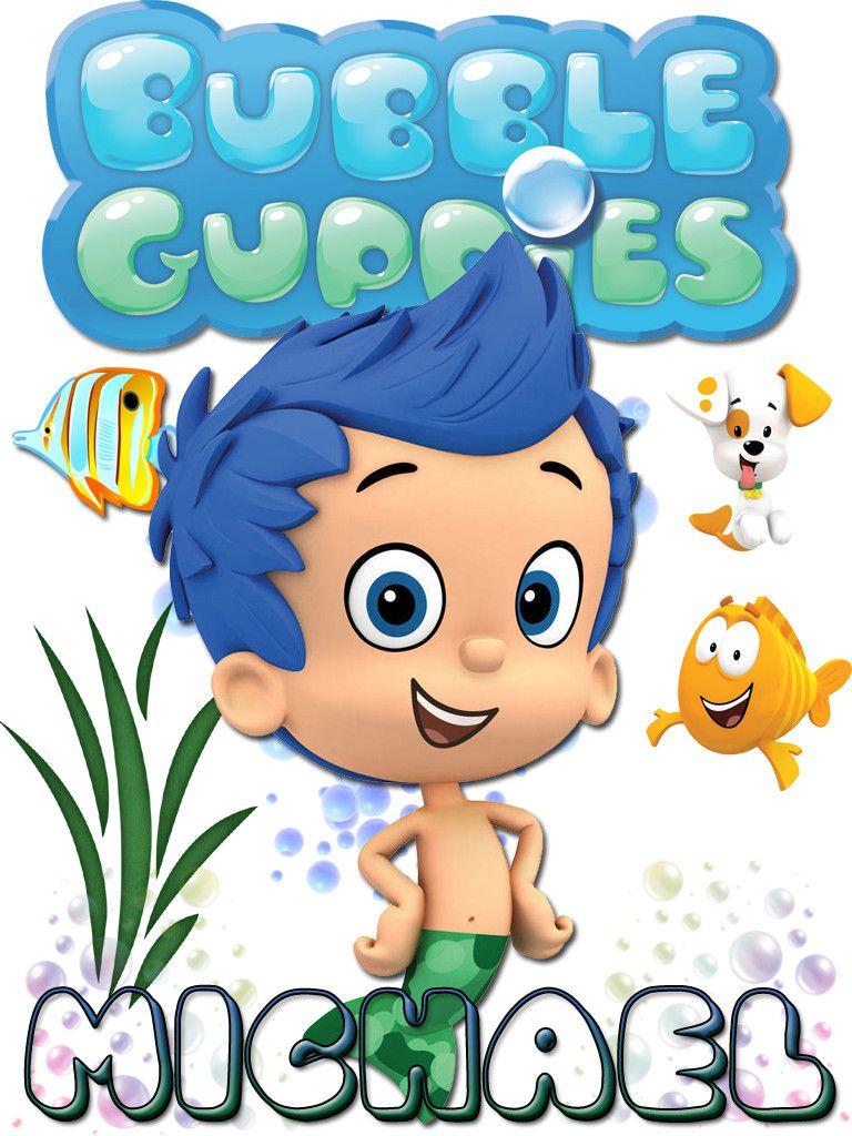 Personalized Custom NAME T-shirt Bubble Guppies Gil | Bebe y Fiestas
