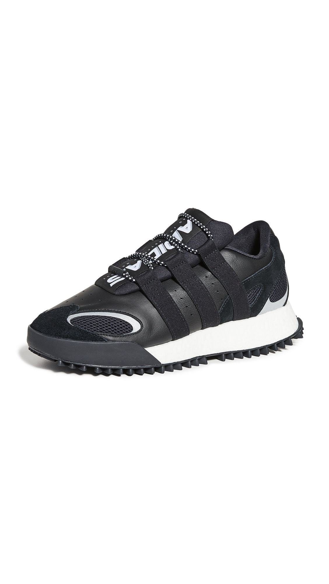 Abundante Pase para saber par  Adidas Originals By Alexander Wang Aw Wang Body Run Leather & Mesh Sneakers  In Core Black | ModeSens | Adidas originals, Sneakers, Alexander wang