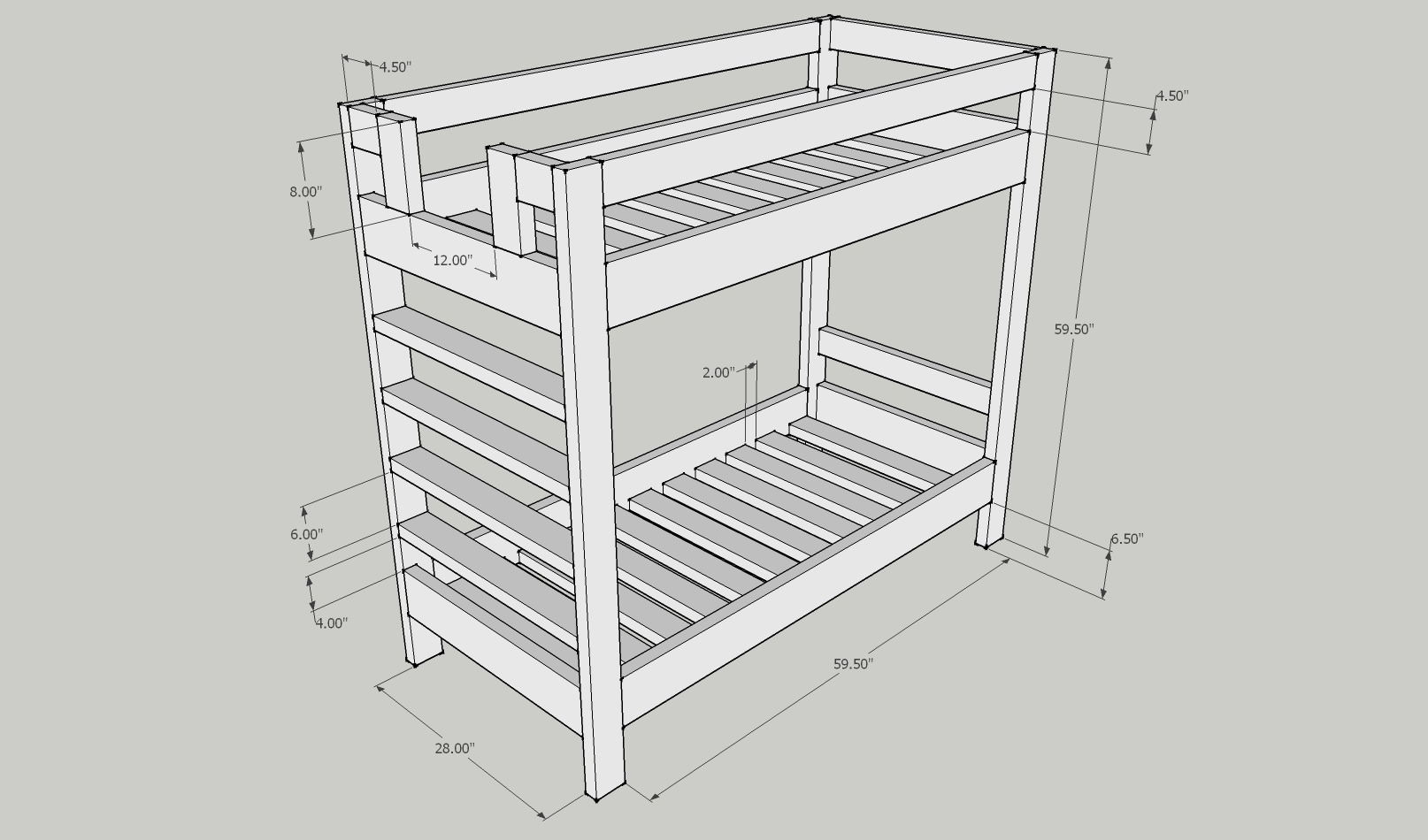 2x4 bunk bed plans Easy to build bed plans These bed plans