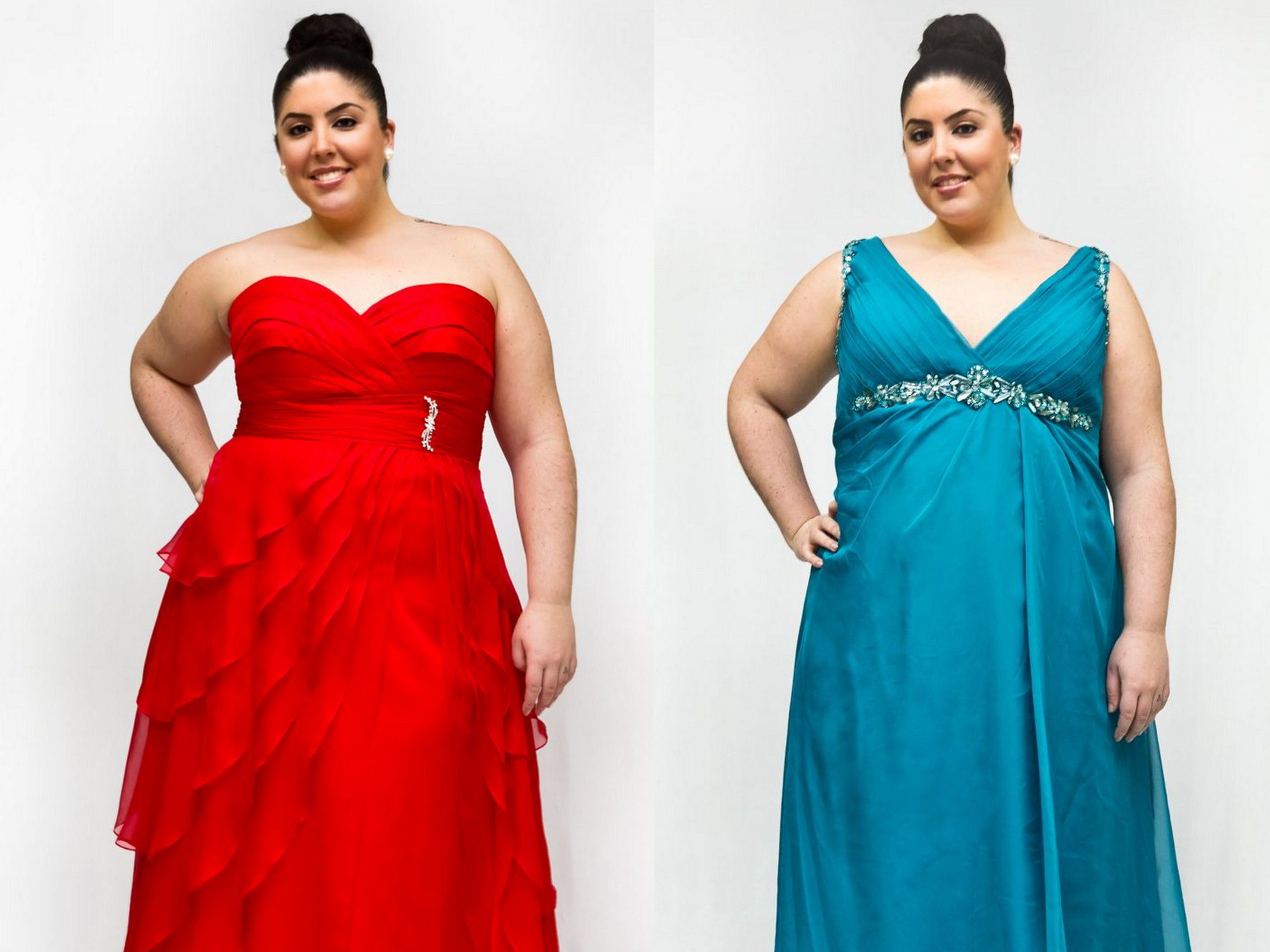 Vestidos de noche para mujeres de talla grande
