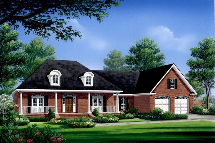 Reduced 50k Expansive Ranch Home With 5 Car Garage: Southern Plan: 2,004 Square Feet, 3