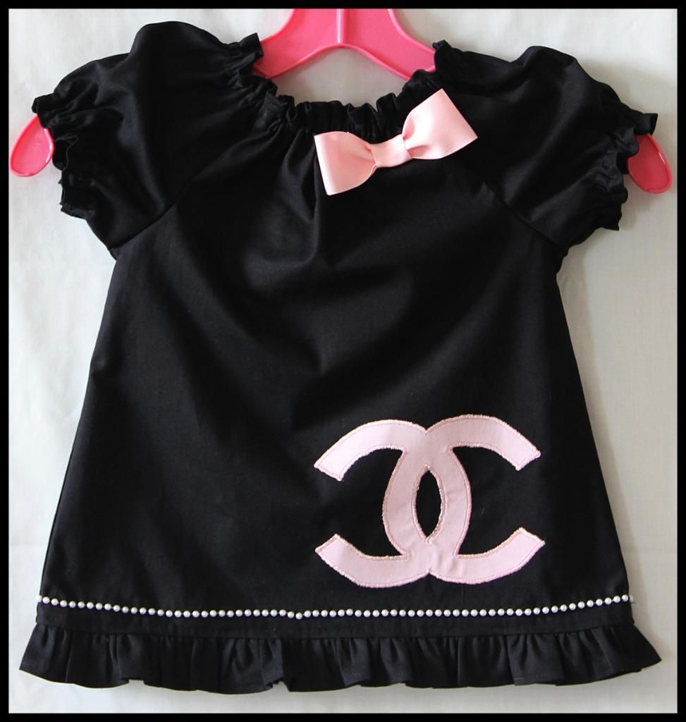 ed02ad837 Coco Chanel Baby Clothes | Little Black Dress CoCo Chanel inspired-baby,chic,peasant  style dress .