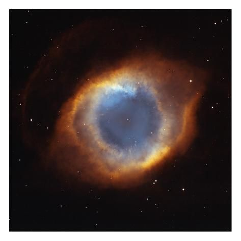 size: 26x26in Art Print: Helix Nebula - a Gaseous Envelope Expelled By a Dying Star : This art print displays sharp, vivid images with a high degree of color accuracy. A member of the versatile family of art prints, this high-quality reproduction represents the best of both worlds: quality and affordability. Art prints are created using a digital or offset lithography press.