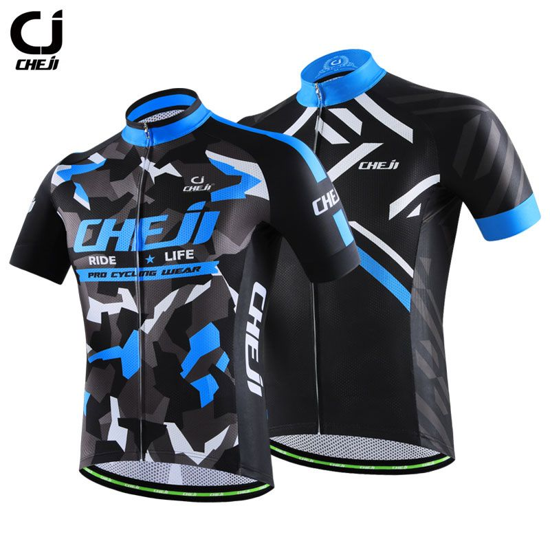 Jersey de ciclismo CheJi Short Sleeve Cycling Jersey for Men Quick Dry  Breathable Bike Shirts Customized 5c32ad171