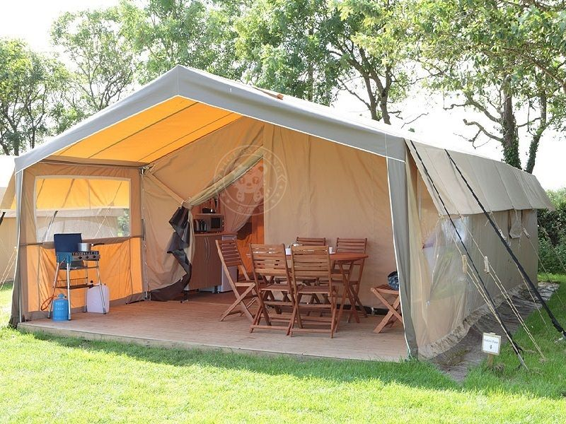 Hot Item Luxury Canvas Family Camping Safari Tent In