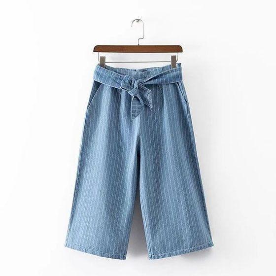 Jessie High Waist Striped Loose Fitting Pants