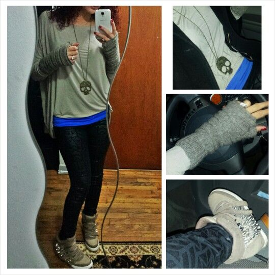 Funky outfit :) H&M pants , Aldo shoes, Nirvana gloves, TJmax shirt and a $5 necklace (from vinted) total amount spent $120