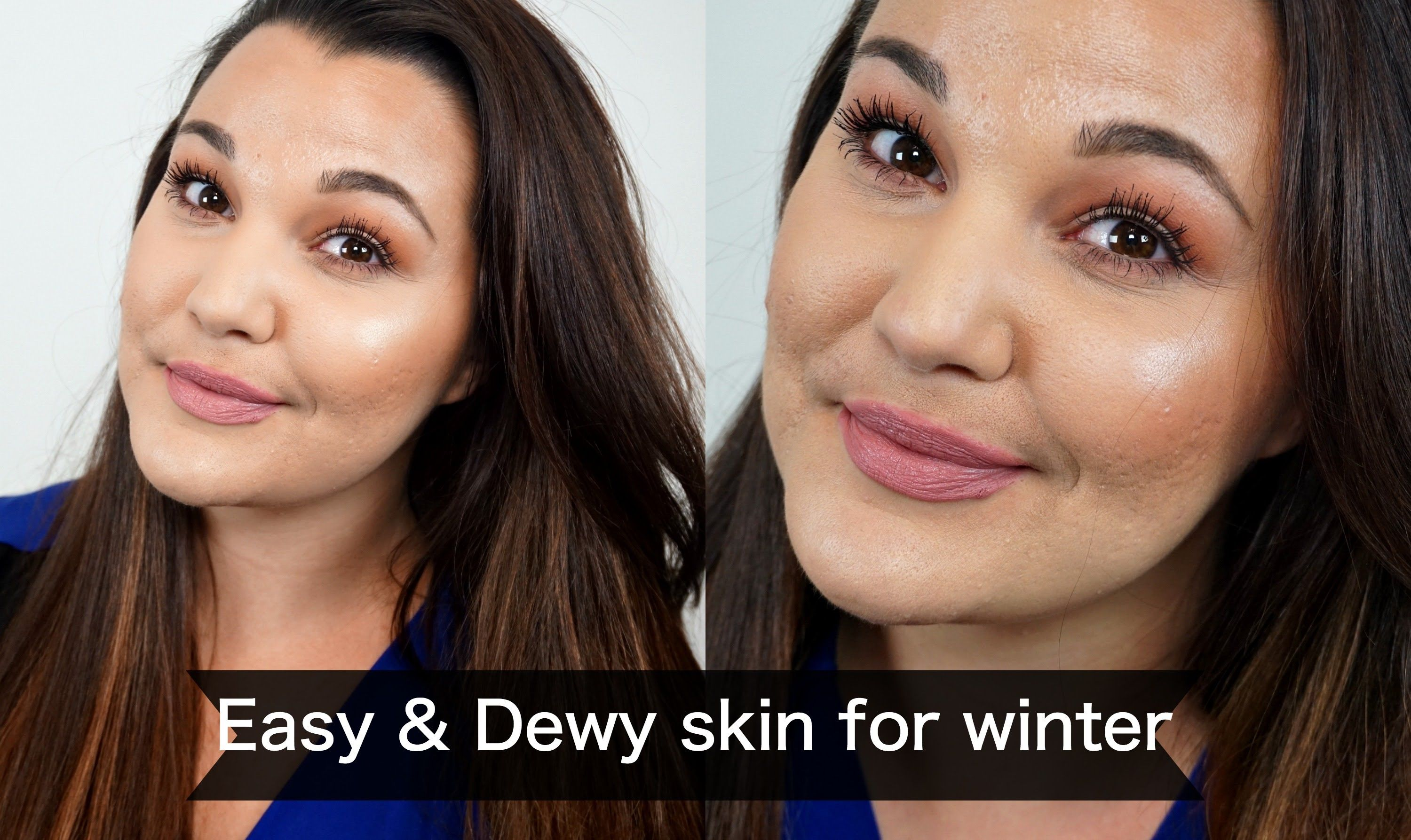 Easy and Dewy skin for winter/ Everyday makeup look Dewy