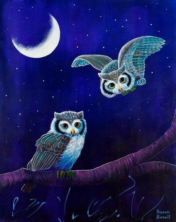 Картинки ночные совушки прикольные